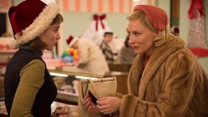 Therese Belivet (Rooney Mara) and Carol (Cate Blanchett) in Carol. (Photo: Transmission)